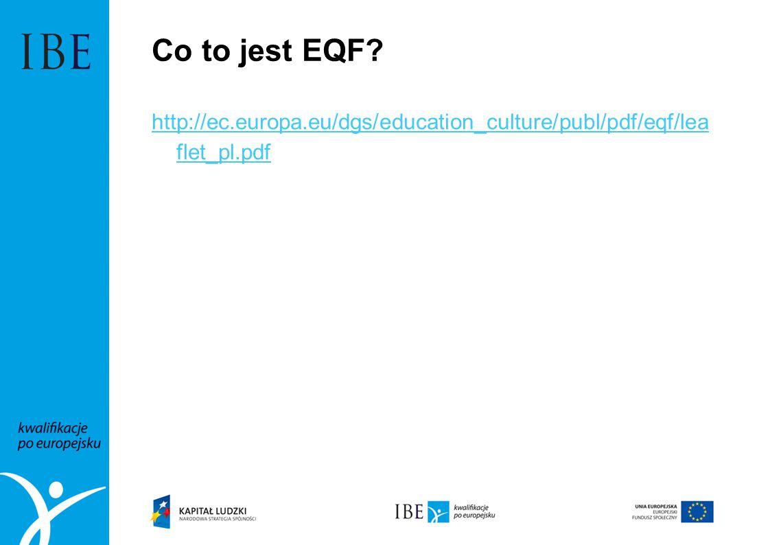 Europejskie Ramy Kwalifikacji – co to jest.1.