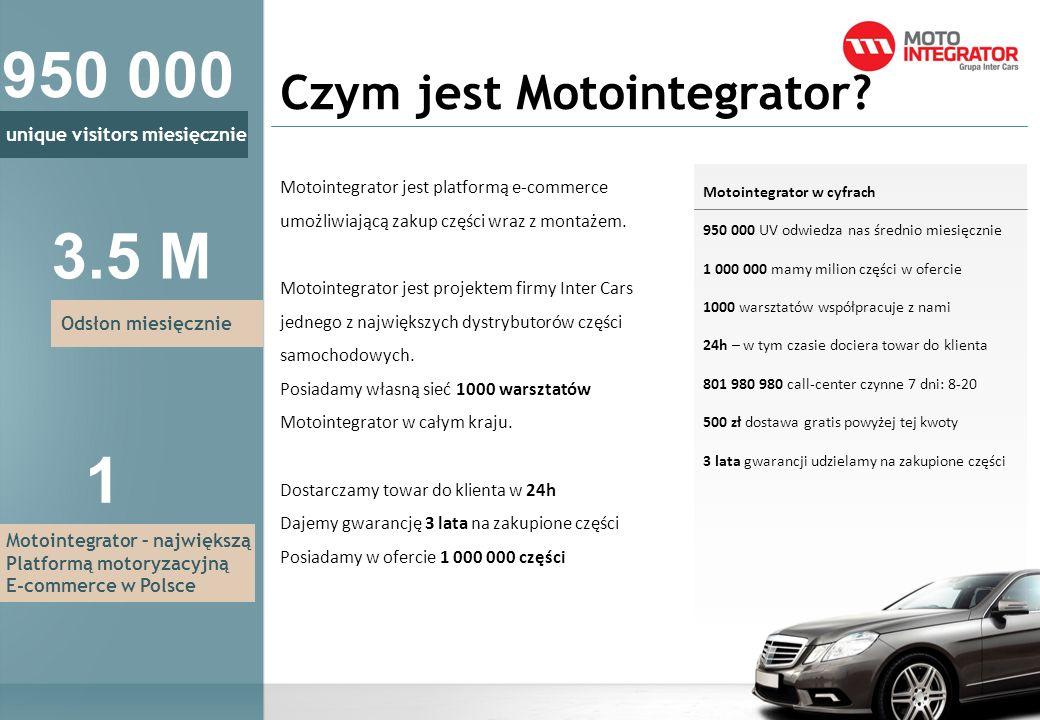 Czym jest Motointegrator? Motointegrator jest platformą e-commerce umożliwiającą zakup części wraz z montażem. Motointegrator jest projektem firmy Int