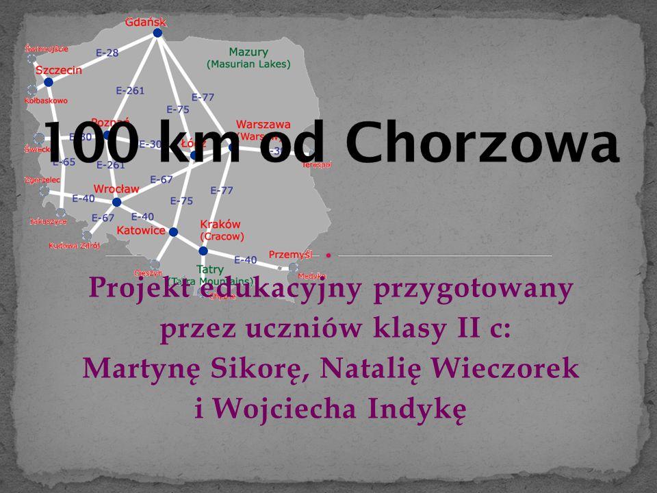 Projekt edukacyjny przygotowany przez uczniów klasy II c: Martynę Sikorę, Natalię Wieczorek i Wojciecha Indykę