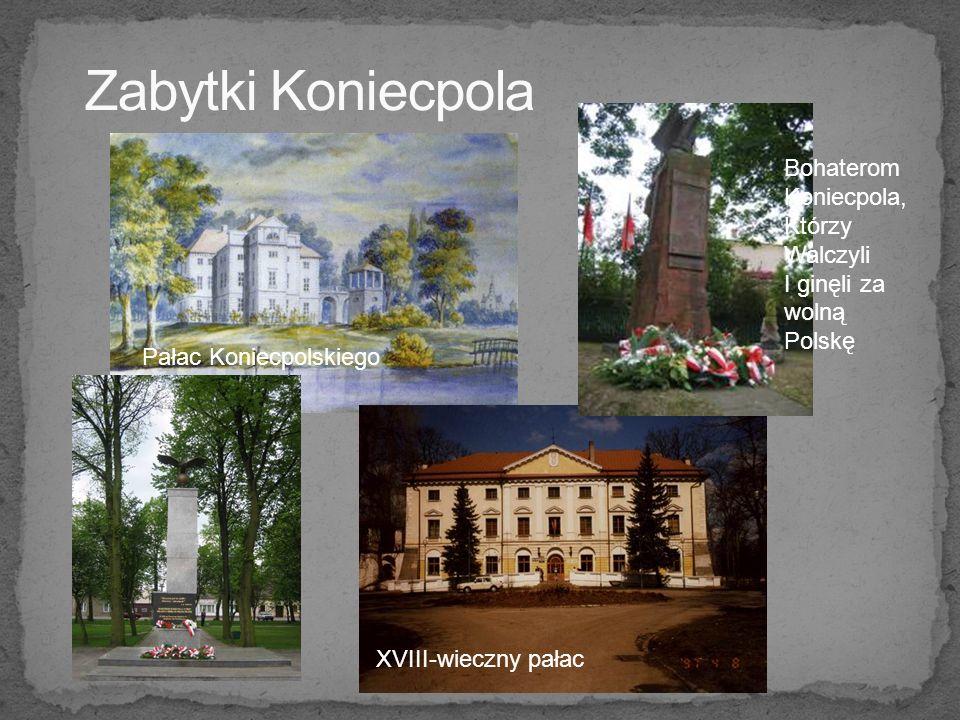 XVIII-wieczny pałac Bohaterom Koniecpola, Którzy Walczyli I ginęli za wolną Polskę Pałac Koniecpolskiego