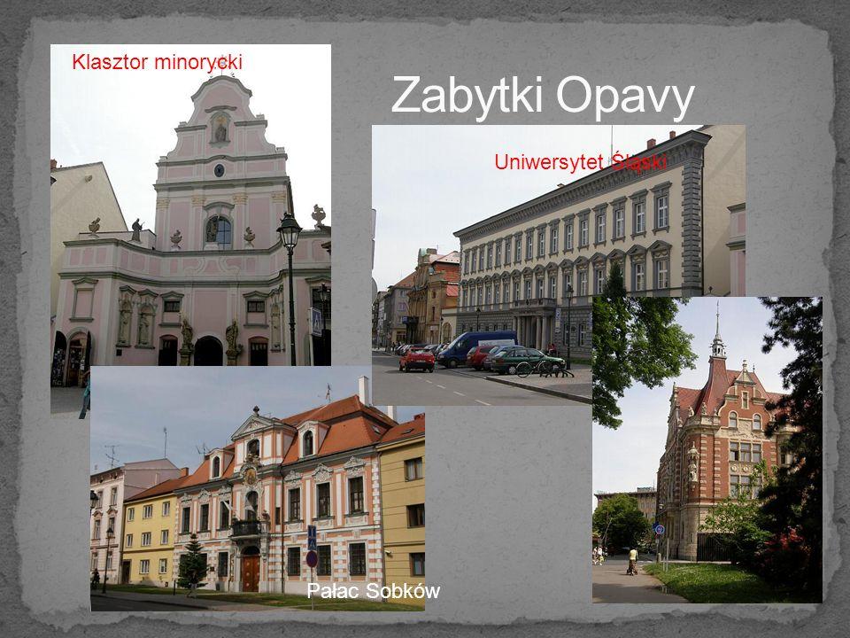 Klasztor minorycki Pałac Sobków Uniwersytet Śląski