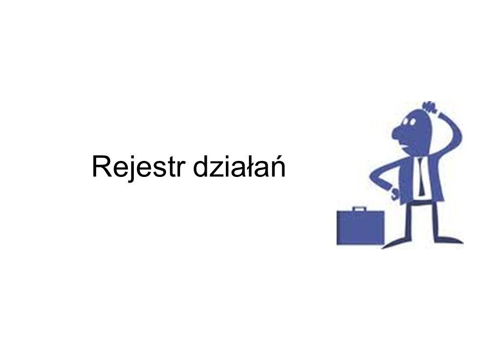 Rejestr działań