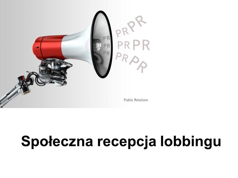 Społeczna recepcja lobbingu