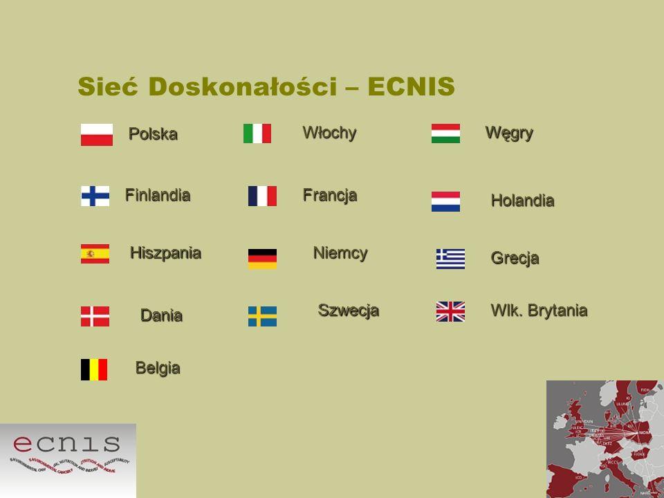 Sieć Doskonałości – ECNIS Polska WłochyWęgry FinlandiaFrancja Holandia HiszpaniaNiemcy Grecja Dania Szwecja Wlk. Brytania Belgia