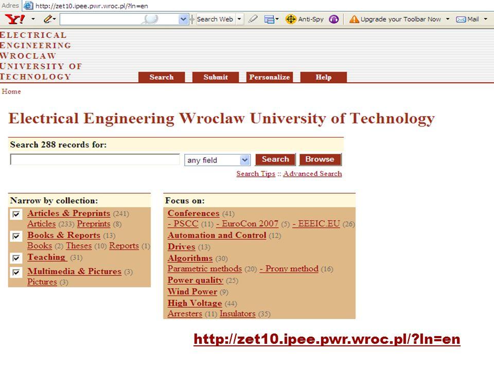 http://zet10.ipee.pwr.wroc.pl/?ln=en