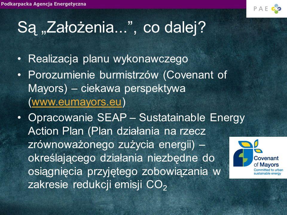 Są Założenia..., co dalej? Realizacja planu wykonawczego Porozumienie burmistrzów (Covenant of Mayors) – ciekawa perspektywa (www.eumayors.eu)www.euma