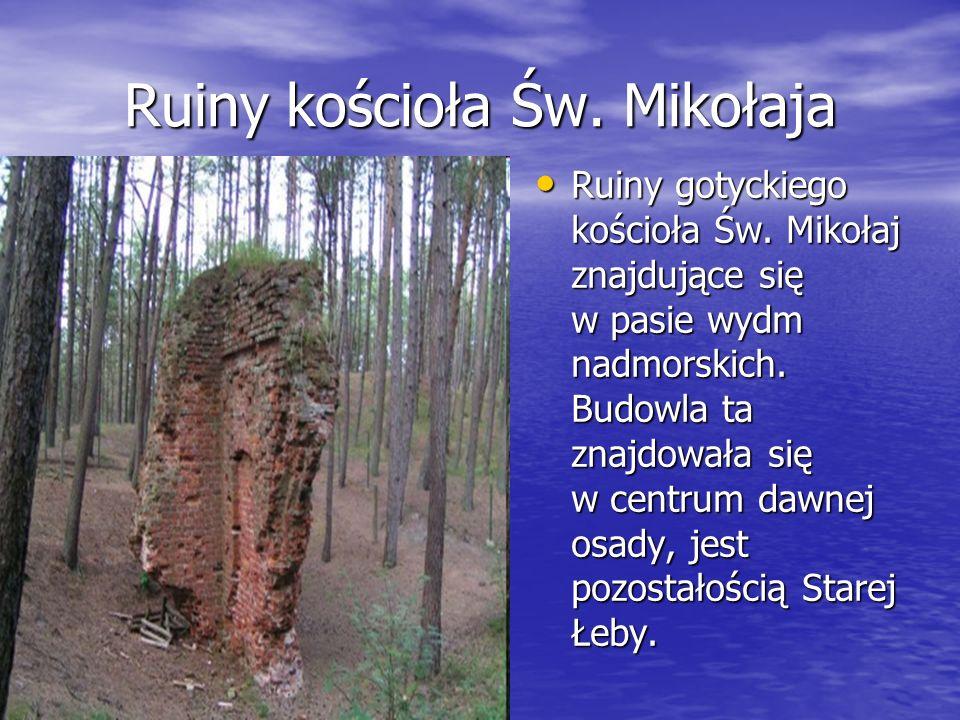 Początki miasta 1373 roku Łeba stała się miastem von Weiherów, najbogatszego rodu rycerskiego Ziemi Lęborskiej 1373 roku Łeba stała się miastem von We