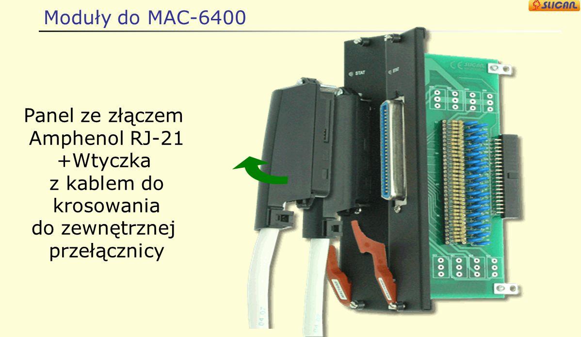 Moduły do MAC-6400 Kabel z (Amphenol RJ-21) KB lub RJ tylko dla kart abonenckich, analogowych lub systemowych