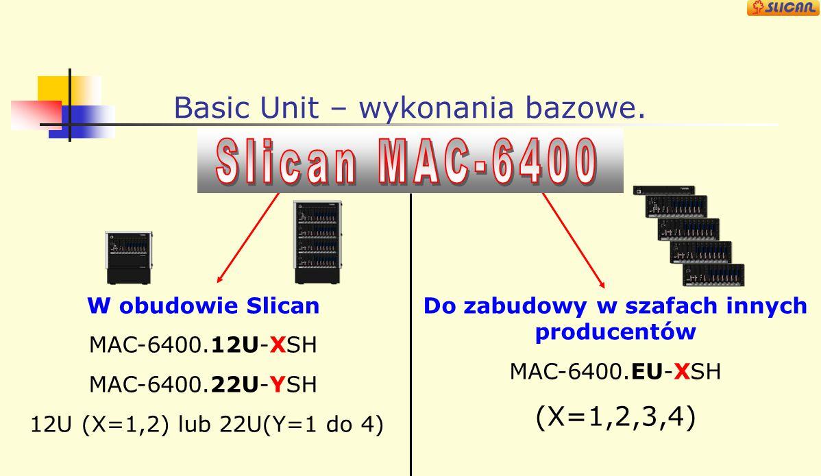 Środowisko sieciowe Slican MAC-6400 Łącza Analogowe: analogowe POTS Sieć Publiczn a PSTN Operator VoIP Dostępy Cyfrowe: ISDN PRA (30B+D) ISDN BRA (2B+