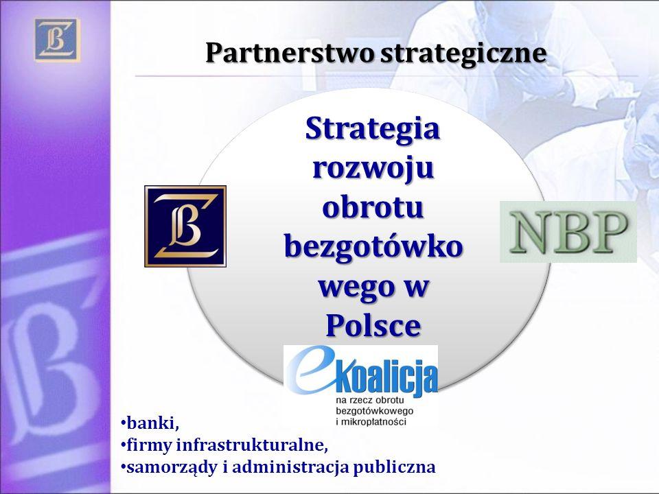 Partnerstwo strategiczne Strategia rozwoju obrotu bezgotówko wego w Polsce banki, firmy infrastrukturalne, samorządy i administracja publiczna