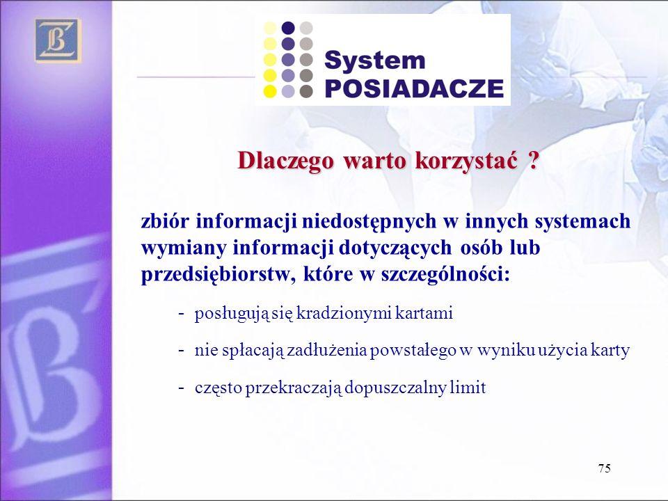 zbiór informacji niedostępnych w innych systemach wymiany informacji dotyczących osób lub przedsiębiorstw, które w szczególności: - posługują się krad