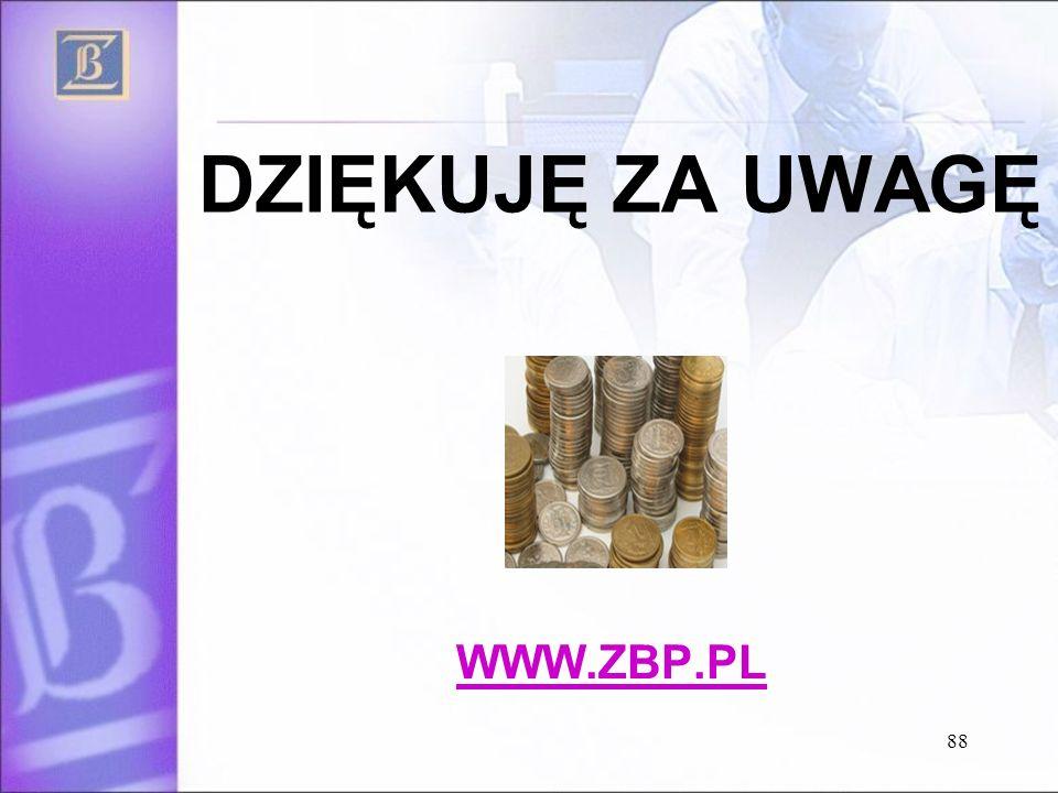 88 DZIĘKUJĘ ZA UWAGĘ WWW.ZBP.PL