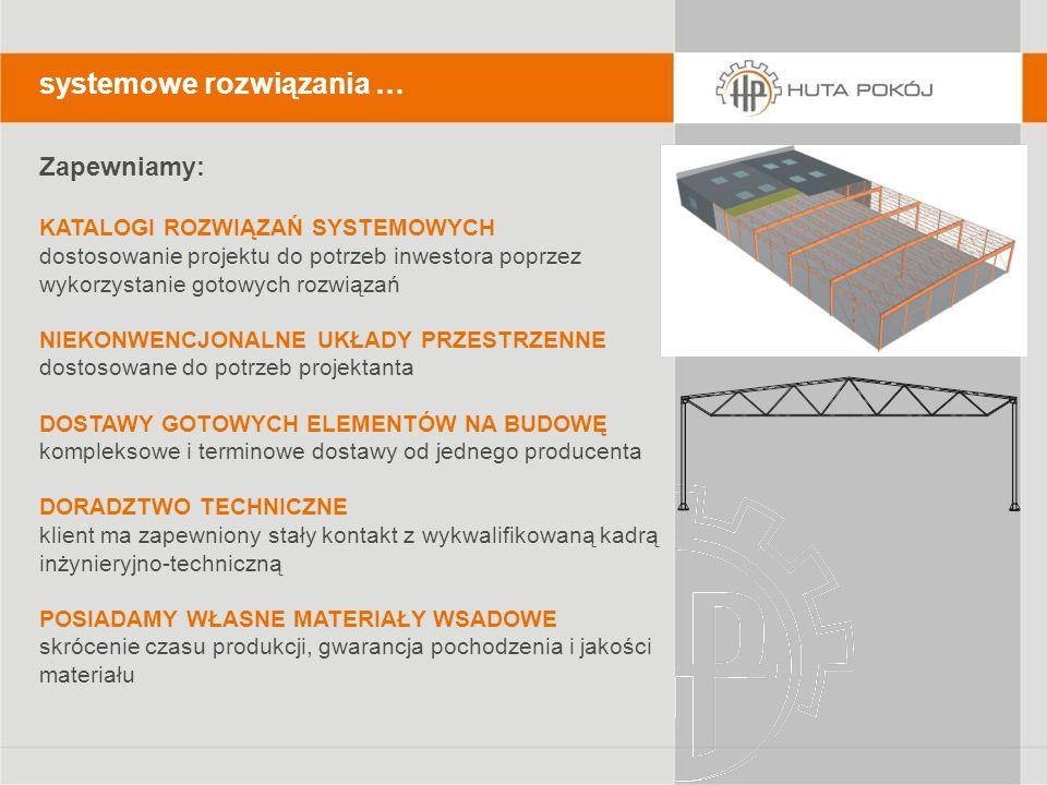 systemowe rozwiązania … Zapewniamy: KATALOGI ROZWIĄZAŃ SYSTEMOWYCH dostosowanie projektu do potrzeb inwestora poprzez wykorzystanie gotowych rozwiązań