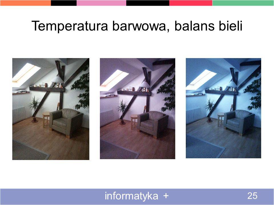 Temperatura barwowa, balans bieli informatyka + 25