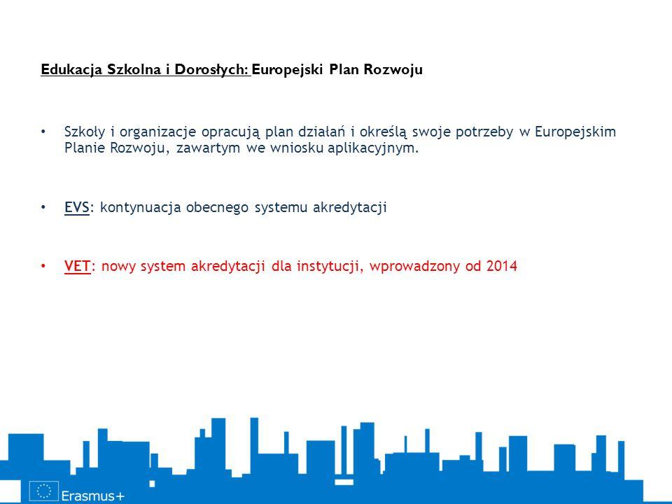 Edukacja Szkolna i Dorosłych: Europejski Plan Rozwoju Szkoły i organizacje opracują plan działań i określą swoje potrzeby w Europejskim Planie Rozwoju