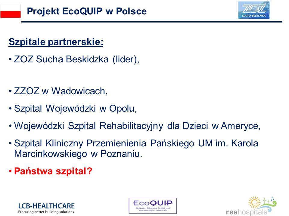 Szpitale partnerskie: ZOZ Sucha Beskidzka (lider), ZZOZ w Wadowicach, Szpital Wojewódzki w Opolu, Wojewódzki Szpital Rehabilitacyjny dla Dzieci w Amer