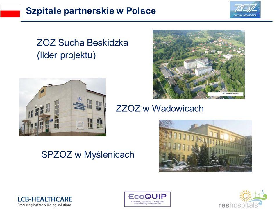 Szpitale partnerskie w Polsce ZOZ Sucha Beskidzka (lider projektu) ZZOZ w Wadowicach SPZOZ w Myślenicach