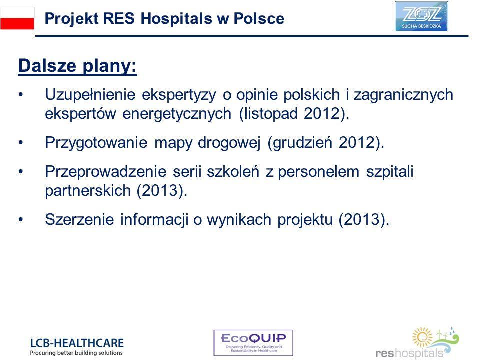 Dalsze plany: Uzupełnienie ekspertyzy o opinie polskich i zagranicznych ekspertów energetycznych (listopad 2012). Przygotowanie mapy drogowej (grudzie
