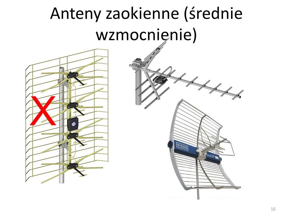 Anteny zaokienne (średnie wzmocnienie) X 16