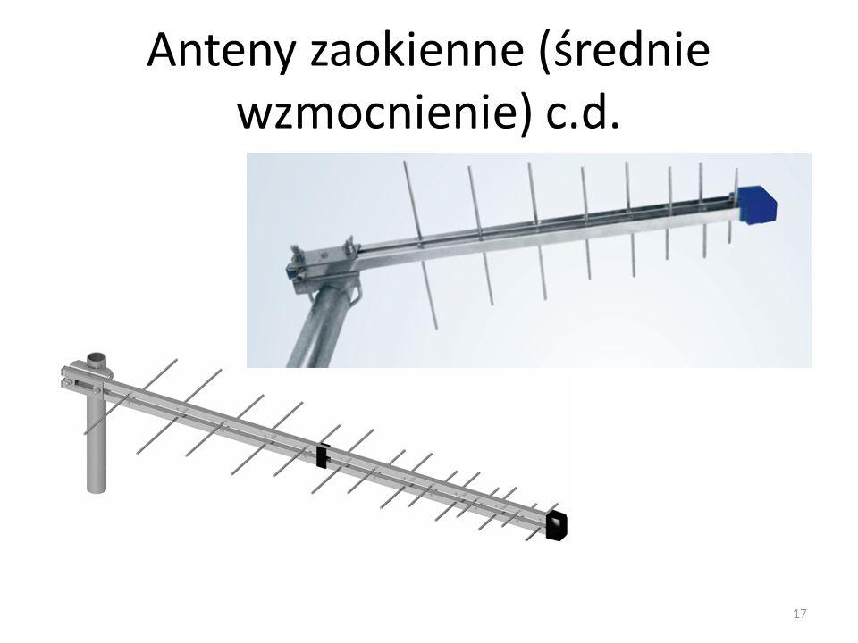 Anteny zaokienne (średnie wzmocnienie) c.d. 17