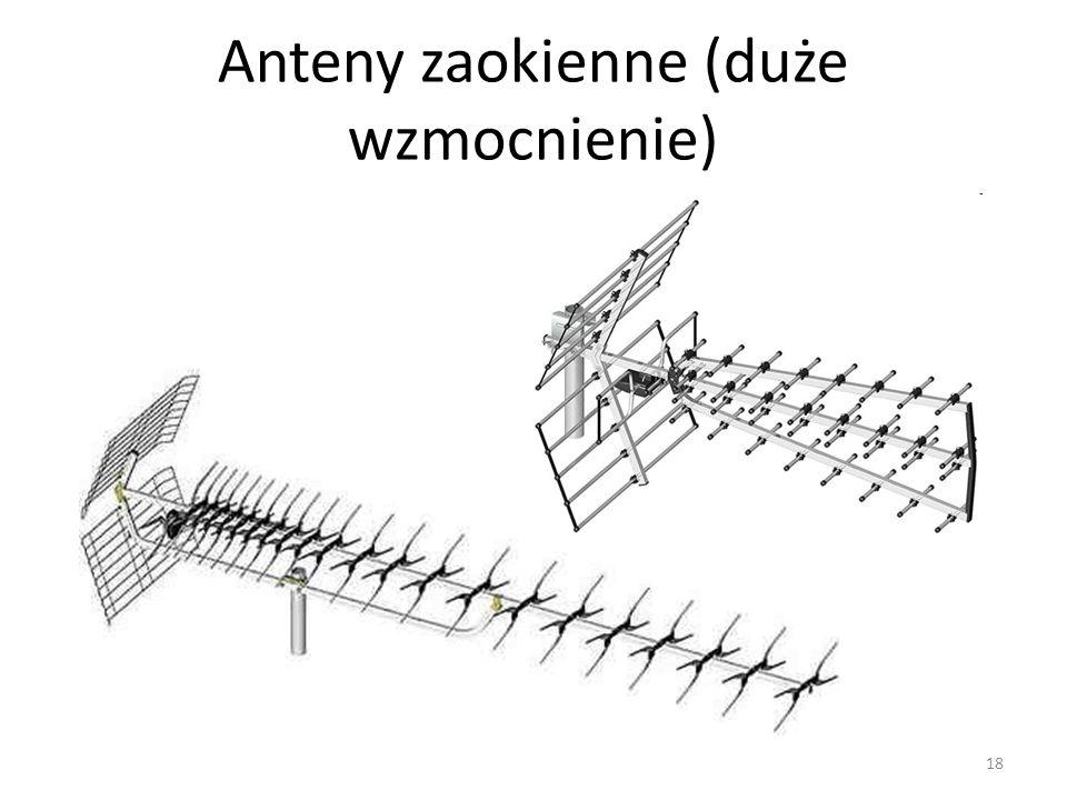 Anteny zaokienne (duże wzmocnienie) 18