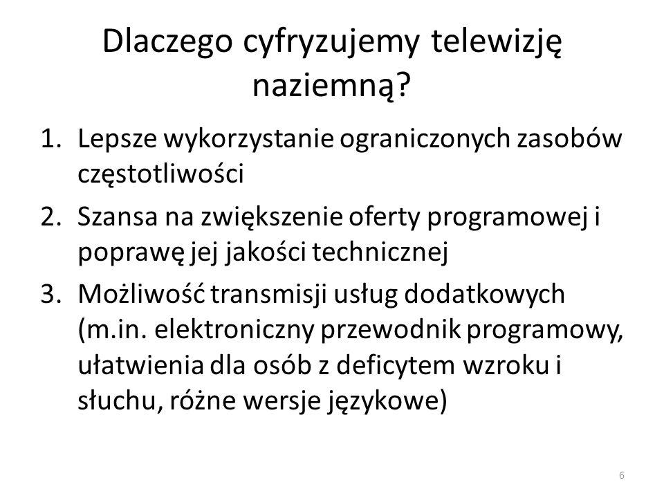 Dlaczego cyfryzujemy telewizję naziemną.