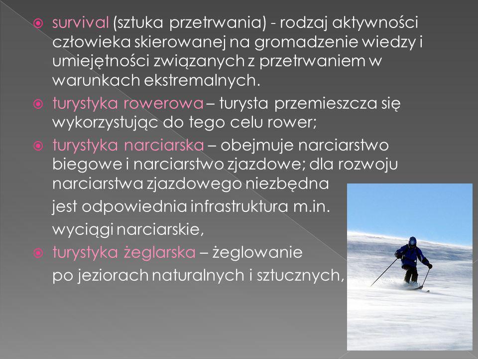 survival (sztuka przetrwania) - rodzaj aktywności człowieka skierowanej na gromadzenie wiedzy i umiejętności związanych z przetrwaniem w warunkach ekstremalnych.