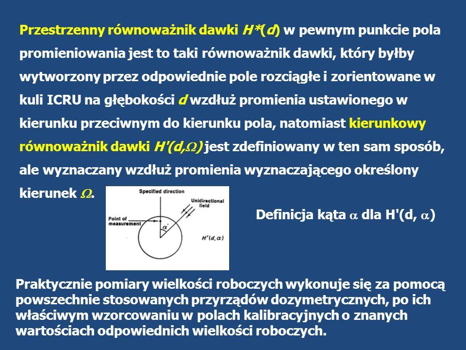 Z kolei do kontroli indywidualnej (grupa b), stosuje się indywidualny równoważnik dawki HP(d), zdefiniowany jako równoważnik dawki pochłoniętej w tkankach miękkich na głębokości d poniżej określonego punktu ciała (a więc już nie w kuli ICRU).