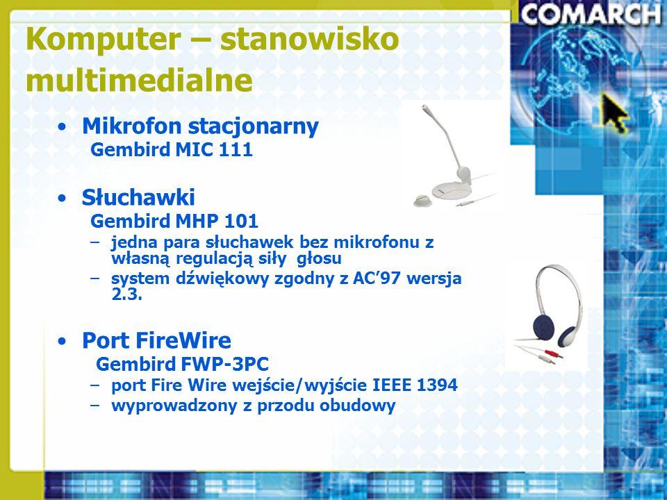 Mikrofon stacjonarny Gembird MIC 111 Słuchawki Gembird MHP 101 –jedna para słuchawek bez mikrofonu z własną regulacją siły głosu –system dźwiękowy zgo