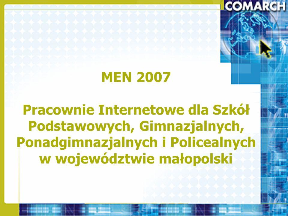 Pracownie Novell OPROGRAMOWANIE Ilość dla jednej pracowni gimnazjalnej Ilość dla jednej pracowni ponadgimnazjalnej Novell SBS 6.6 PL – nośnik11 Novell SBS 6.6 - 5 Client – licencja 34 Antywirus na serwer plików – licencja11 Antywirus na serwer plików – nośnik11 Antywirus na serwer poczty – licencja11 Antywirus na serwer poczty – nośnik11 Office 2007 Prof.