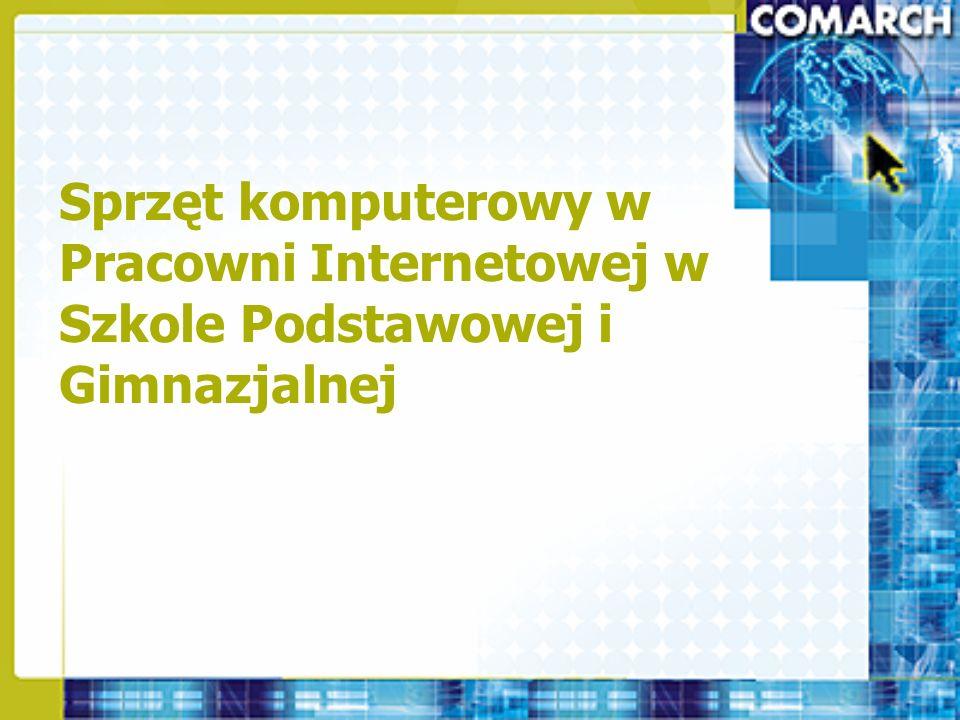 Pracownie Novell Komputer – Serwer Novell Small Business Suite 6.6 PL –1 nośnik, 15 licencji połączeniowych dla gimnazjum, 20 licencji połączeniowych dla szkoły ponadgimnazjalnej Oprogramowanie antywirusowe dla serwera Novell –Panda Software FileSecure TruPrevent 1 licencja, 1 nośnik –Beginfinite Gwava Enterprise 3.7 – dedykowane oprogramowanie do skanowania serwera poczty GroupWise 1 licencja, 1 nośnik