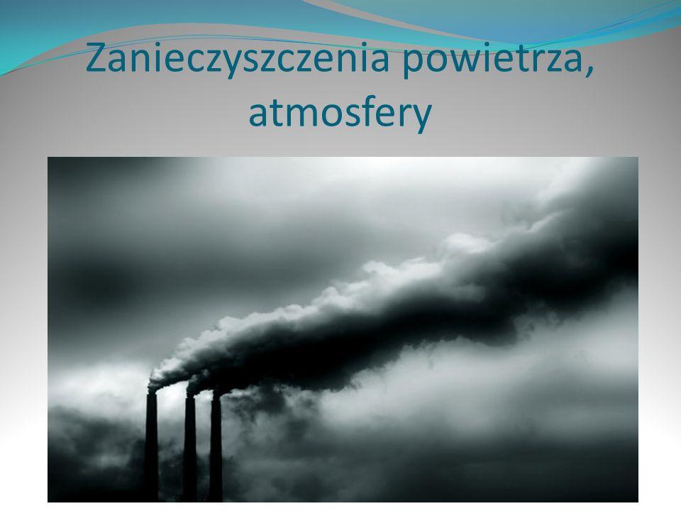 Zanieczyszczenia powietrza, atmosfery