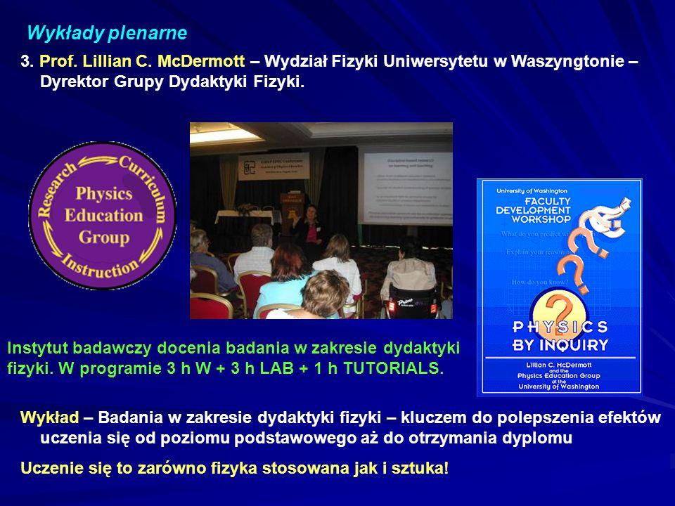 Wykłady plenarne 3.Prof. Lillian C.