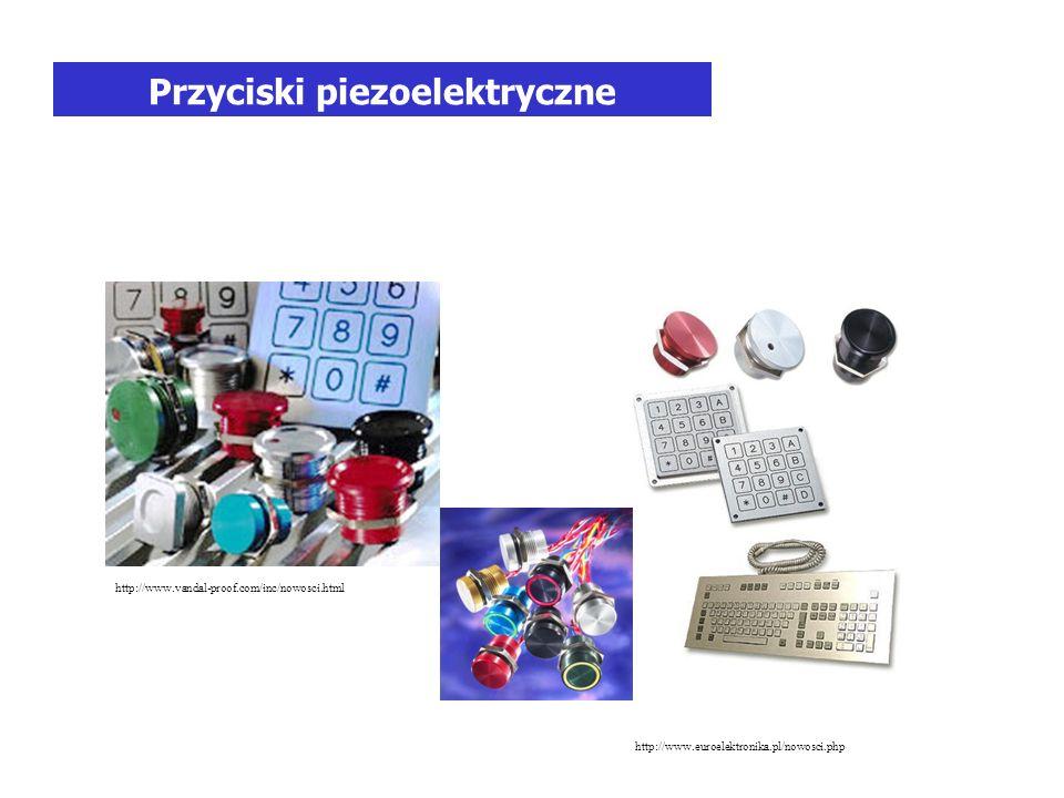 Przyciski piezoelektryczne http://www.vandal-proof.com/inc/nowosci.html http://www.euroelektronika.pl/nowosci.php