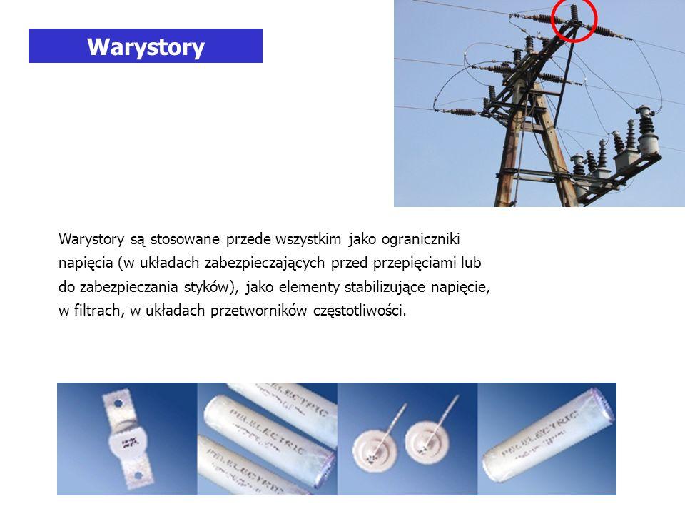 Warystory są stosowane przede wszystkim jako ograniczniki napięcia (w układach zabezpieczających przed przepięciami lub do zabezpieczania styków), jako elementy stabilizujące napięcie, w filtrach, w układach przetworników częstotliwości.