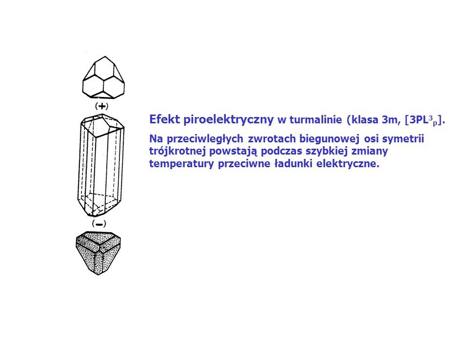 Efekt piroelektryczny w turmalinie (klasa 3m, [3PL 3 p ].