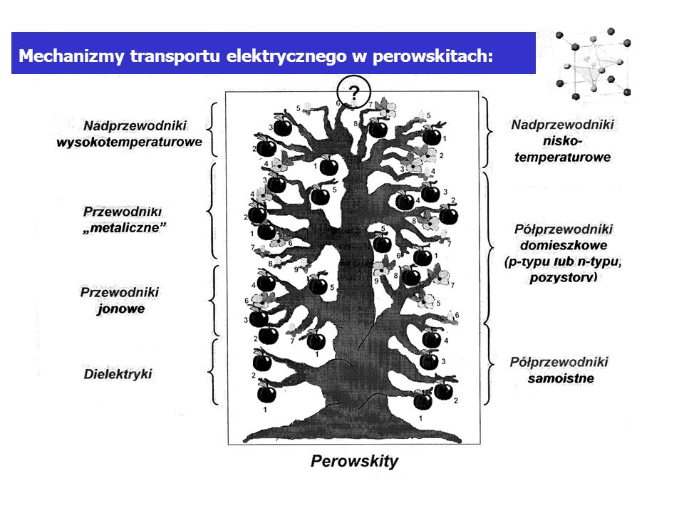 Mechanizmy transportu elektrycznego w perowskitach:
