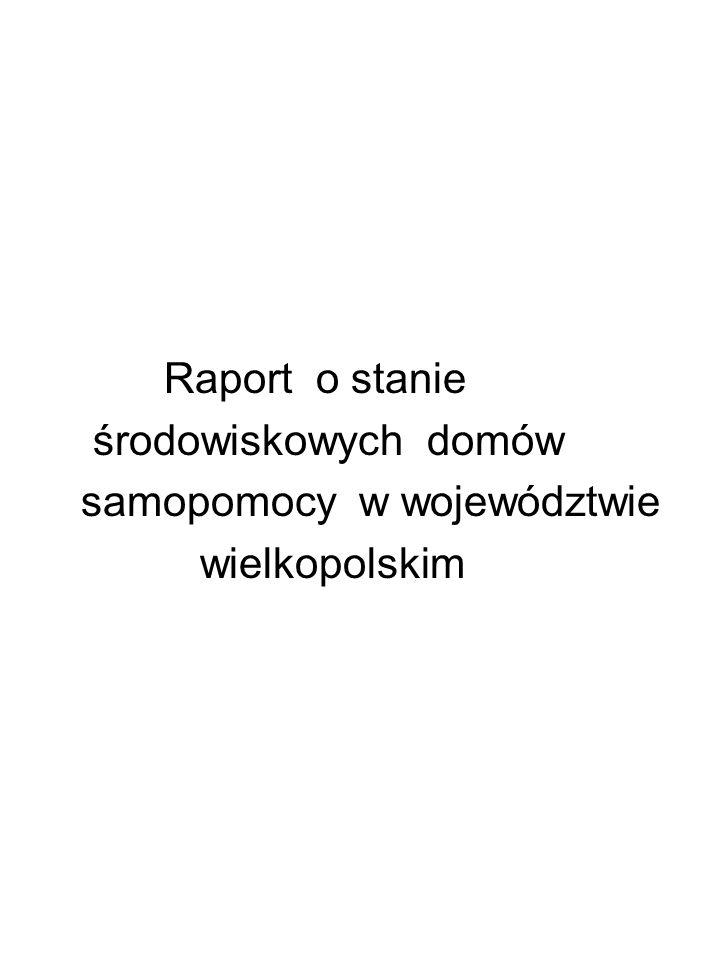 Raport o stanie środowiskowych domów samopomocy w województwie wielkopolskim