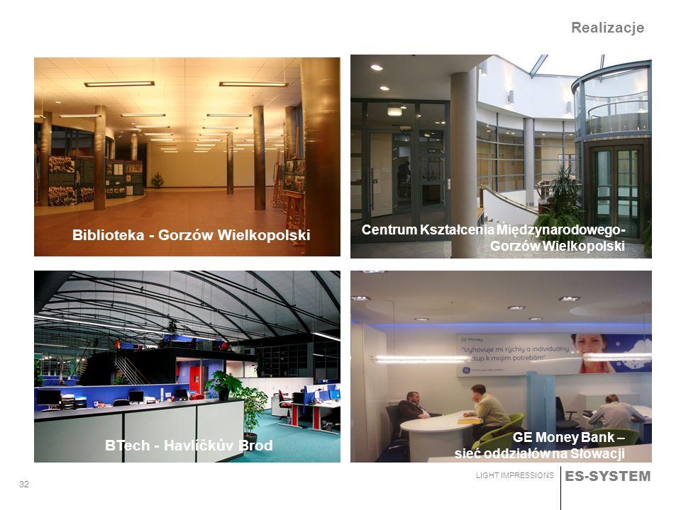 ES-SYSTEM LIGHT IMPRESSIONS 32 Biblioteka - Gorzów Wielkopolski Centrum Kształcenia Międzynarodowego- Gorzów Wielkopolski Realizacje BTech - Havlíčkův