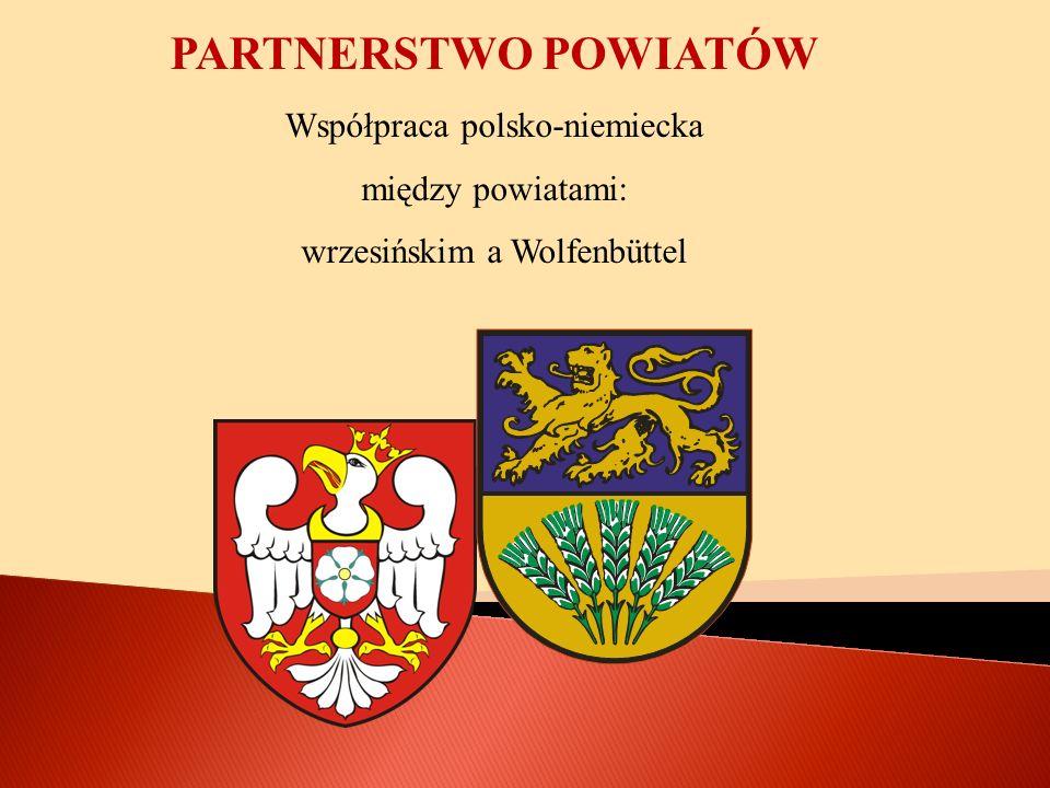 POCZĄTKI WSPÓŁPRACY Współpraca trwa oficjalnie od 2001 r., kiedy podpisano umowę o partnerstwie między powiatami wrzesińskim a Wolfenbűttel.