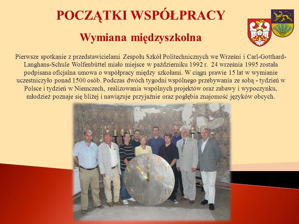 WSPÓŁPRACA SZKOLNA W lipcu 2005 r.