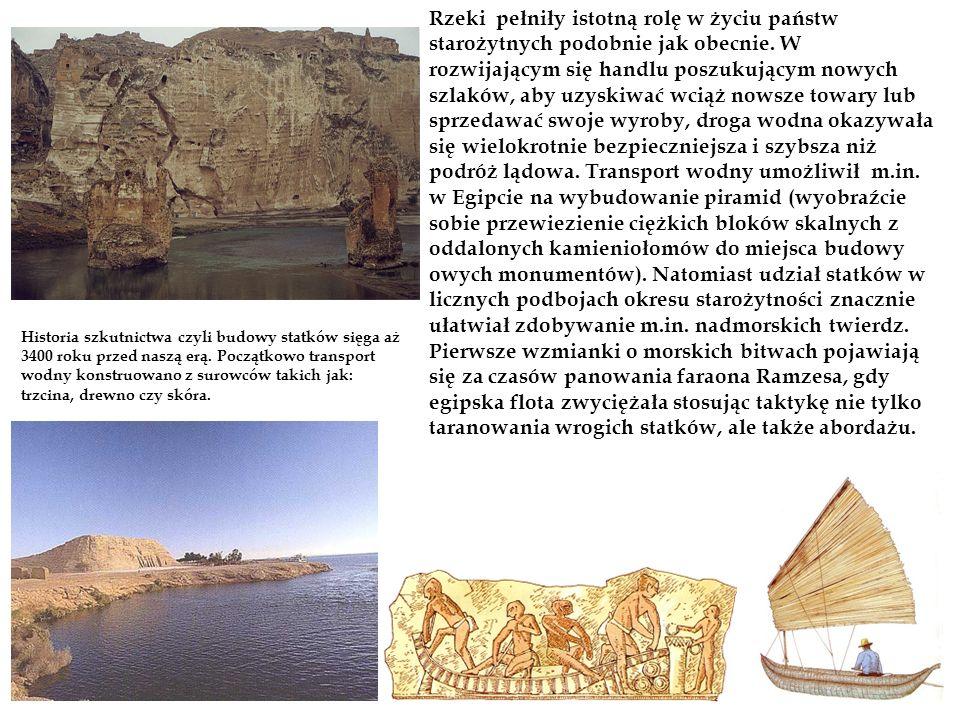 Historia szkutnictwa czyli budowy statków sięga aż 3400 roku przed naszą erą. Początkowo transport wodny konstruowano z surowców takich jak: trzcina,