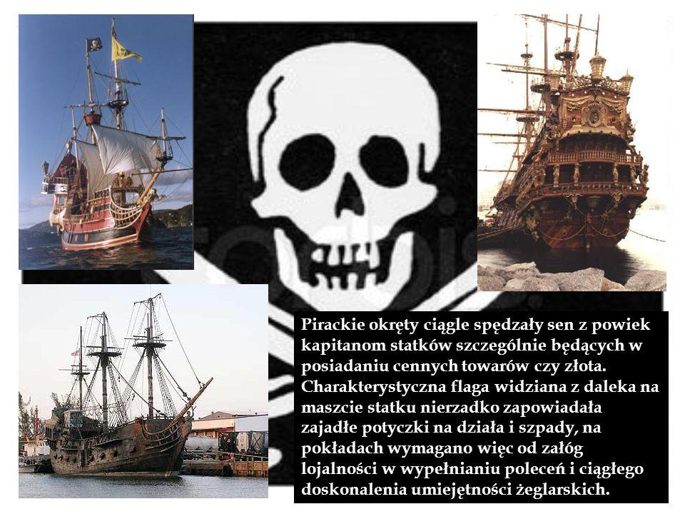 Pirackie okręty ciągle spędzały sen z powiek kapitanom statków szczególnie będących w posiadaniu cennych towarów czy złota. Charakterystyczna flaga wi