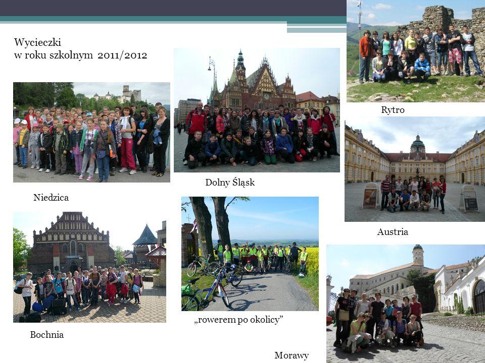 Wycieczki w roku szkolnym 2011/2012 Niedzica Dolny Śląsk Rytro Bochnia rowerem po okolicy Austria Morawy