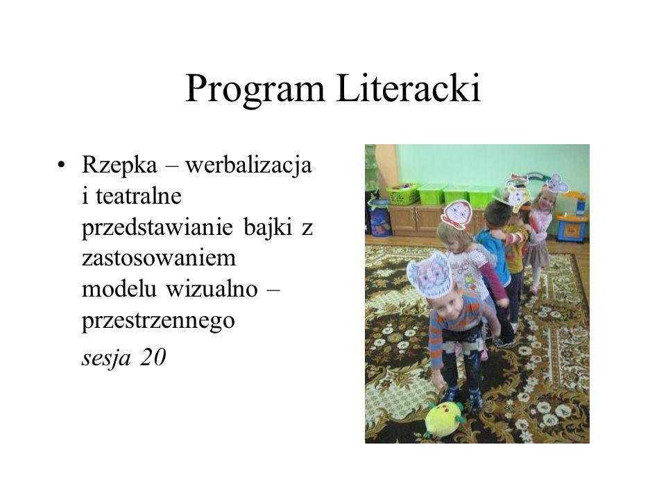 Program Literacki Rzepka – werbalizacja i teatralne przedstawianie bajki z zastosowaniem modelu wizualno – przestrzennego sesja 20