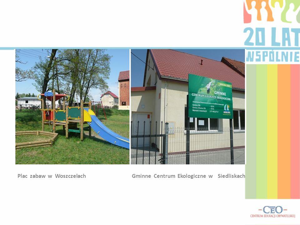 Plac zabaw w Woszczelach Gminne Centrum Ekologiczne w Siedliskach