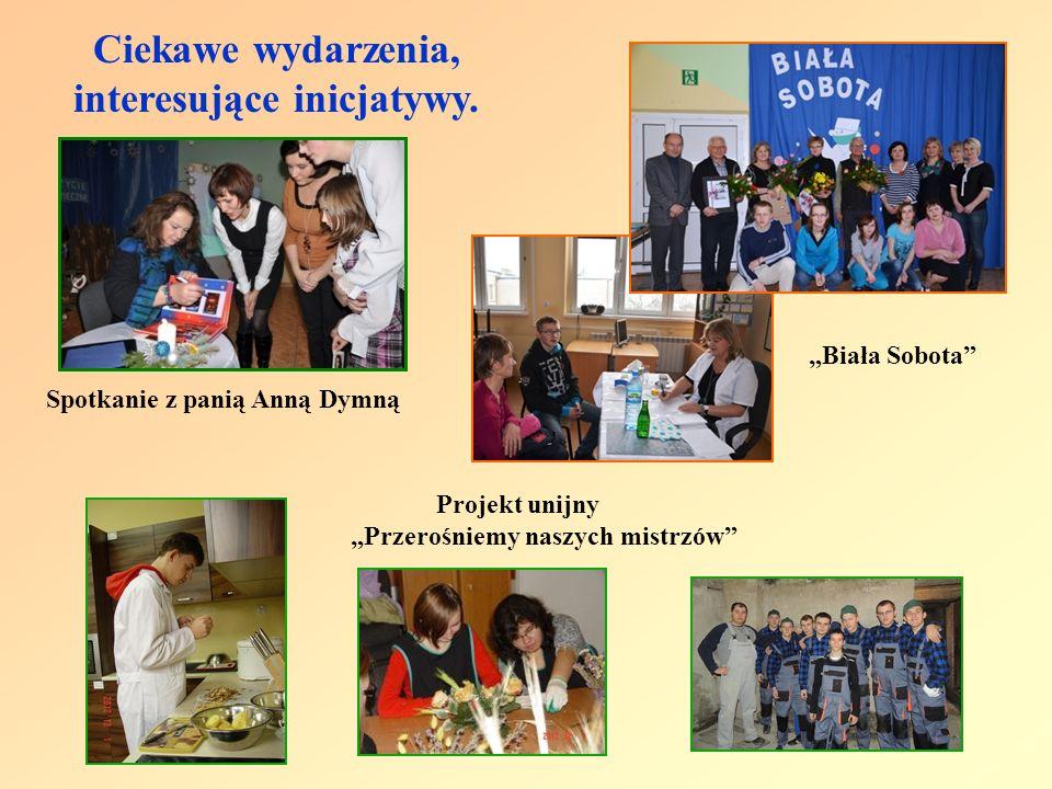 Ciekawe wydarzenia, interesujące inicjatywy. Spotkanie z panią Anną Dymną Biała Sobota Projekt unijny Przerośniemy naszych mistrzów