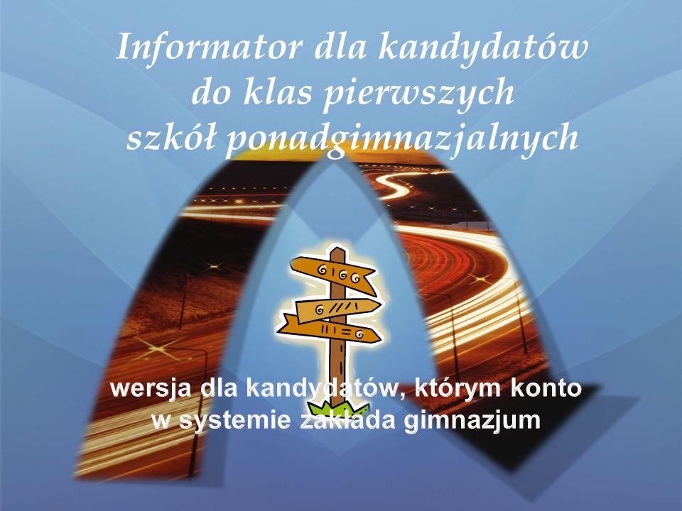 Krok 4/5 - Wybór szkół Szkoły należy wybrać z rozwijalnej listy w dowolnej kolejności