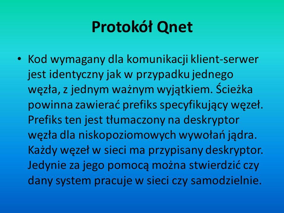 Kod wymagany dla komunikacji klient-serwer jest identyczny jak w przypadku jednego węzła, z jednym ważnym wyjątkiem. Ścieżka powinna zawierać prefiks