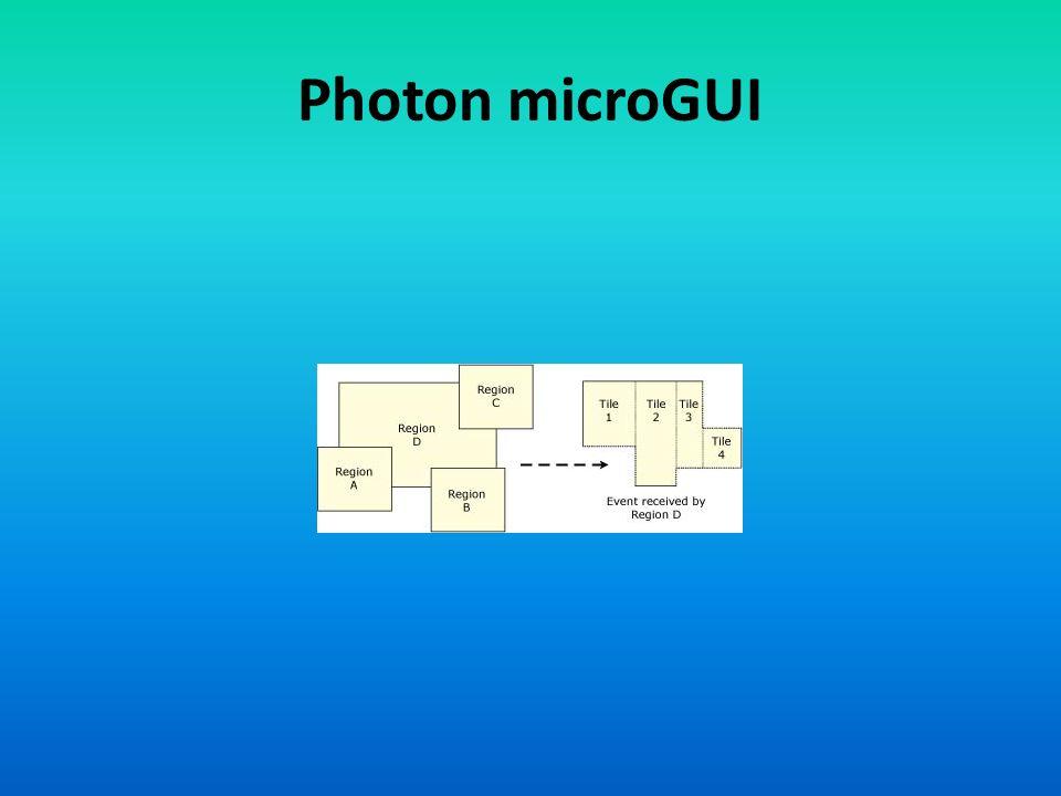 Photon microGUI